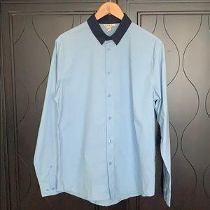 Marni x H&M Long Sleeve Shirt with Contrast Collar